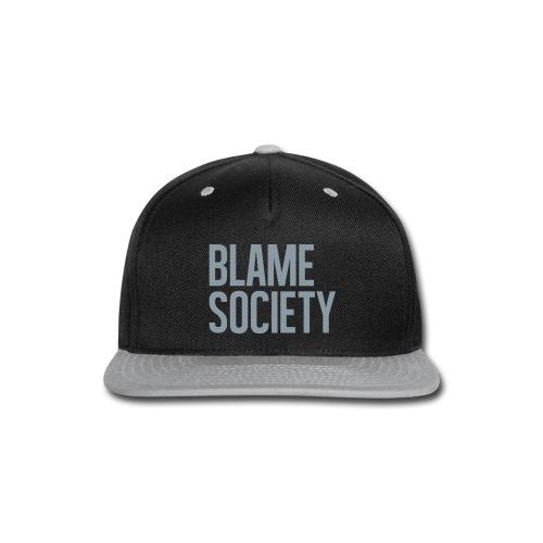 Blame Society BYOB Metallic Silver Snapback Hat - Snap-back Baseball Cap