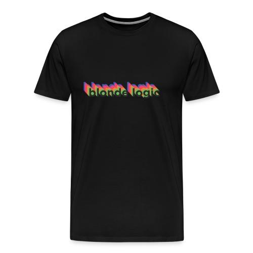 Black Blonde Logic Retro T  - Men's Premium T-Shirt