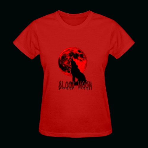 Blood Moon Wolf - Women's T-Shirt