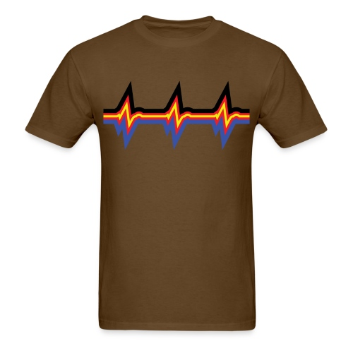 PolyamHeartBeat Straight-Cut Tee - Men's T-Shirt