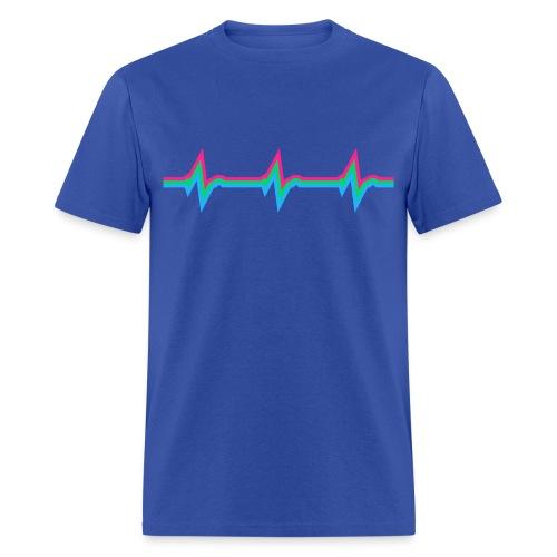 PolysexualHeartBeat Straight-Cut Tee - Men's T-Shirt