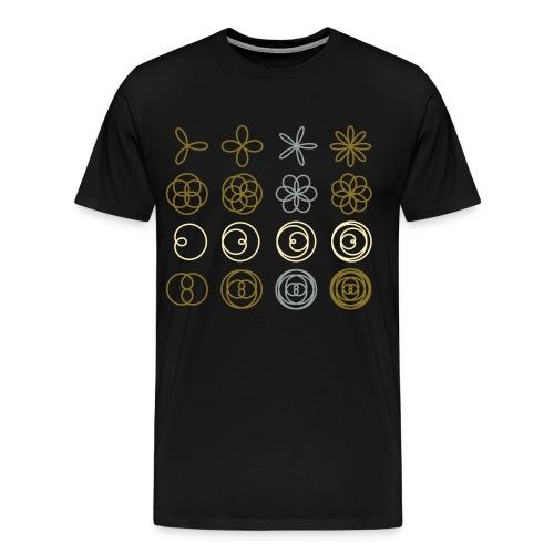 Polar Rose Chart - Men's Premium T-Shirt
