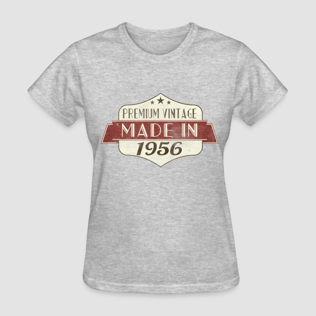 Vintage 1956 60th Birthday Womens T Shirts