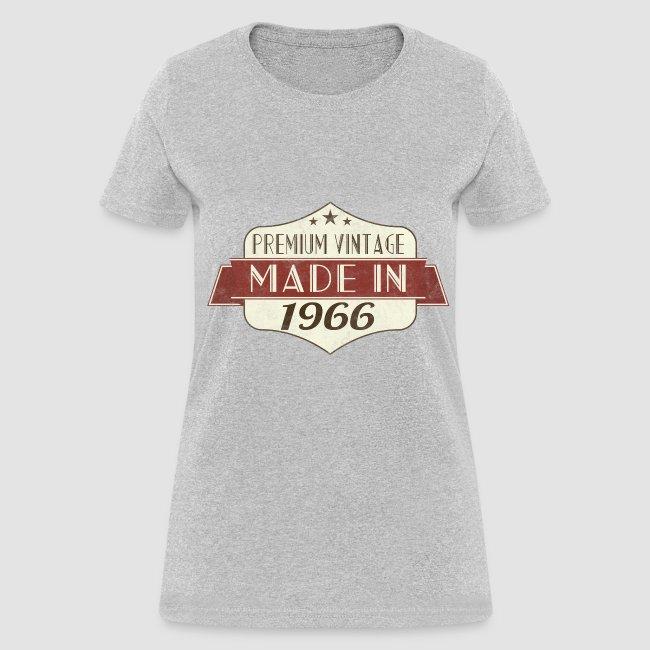 Vintage 1966 50th Birthday Womens T Shirts