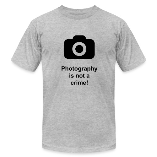 Photography is not a crime T-Shirt - Men's Fine Jersey T-Shirt
