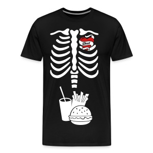 Tattoo Dad X-ray Skeleton / burger & fries - Men's Premium T-Shirt