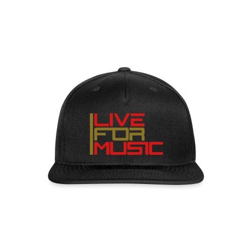 DJ X Cap - Live For Music - Snap-back Baseball Cap