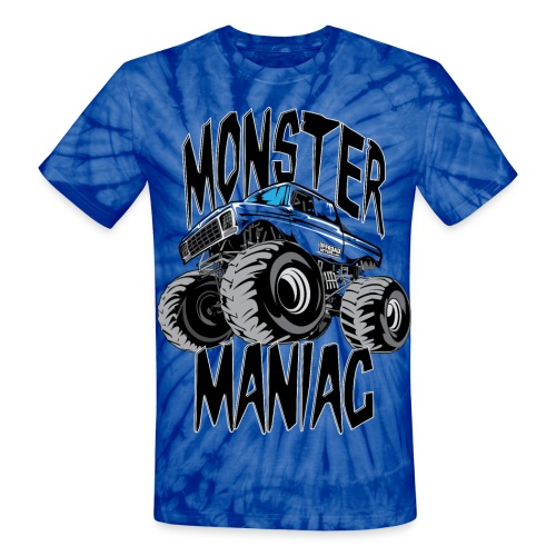 Monster Truck Maniac Uni - Unisex Tie Dye T-Shirt