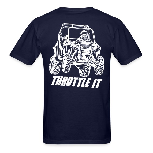 UTV SxS Throttle It BACK - Men's T-Shirt