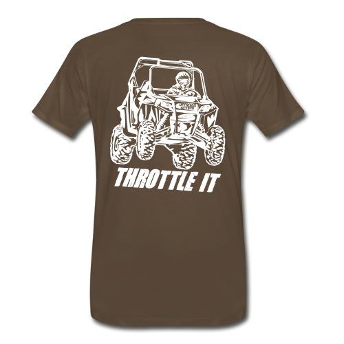 UTV SxS Throttle It BACK - Men's Premium T-Shirt