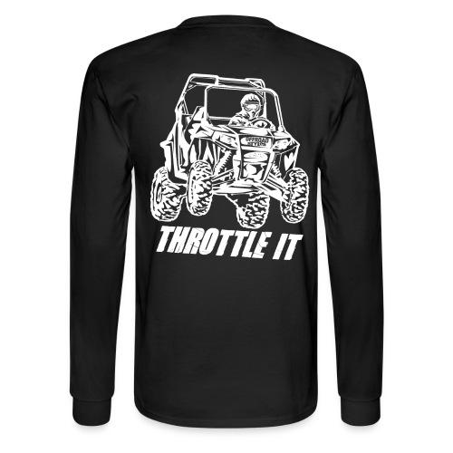 UTV SxS Throttle It BACK - Men's Long Sleeve T-Shirt