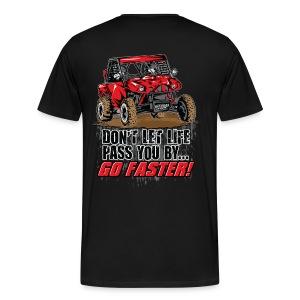 UTV SxS Go Faster BACK - Men's Premium T-Shirt