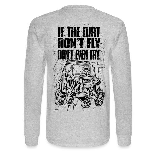 UTV SxS Dirt Fly BACK - Men's Long Sleeve T-Shirt