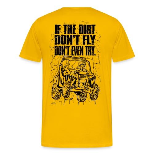 UTV SxS Dirt Fly BACK - Men's Premium T-Shirt