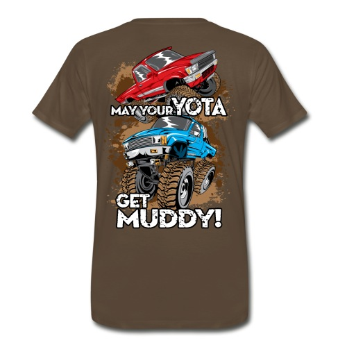 Trucks Getting Muddy - Men's Premium T-Shirt