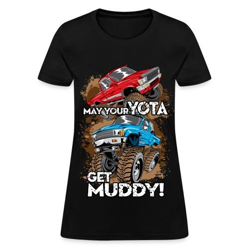 Trucks Getting Muddy - Women's T-Shirt