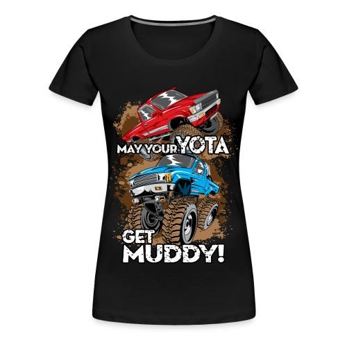 Trucks Getting Muddy - Women's Premium T-Shirt
