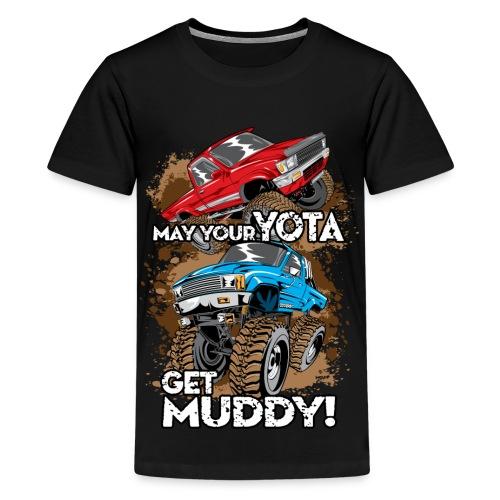 Trucks Getting Muddy - Kids' Premium T-Shirt