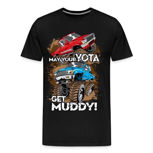 Trucks Getting Muddy - Men's Premium T-Shirt