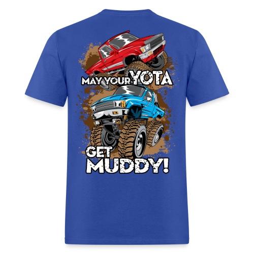Trucks Getting Muddy - Men's T-Shirt