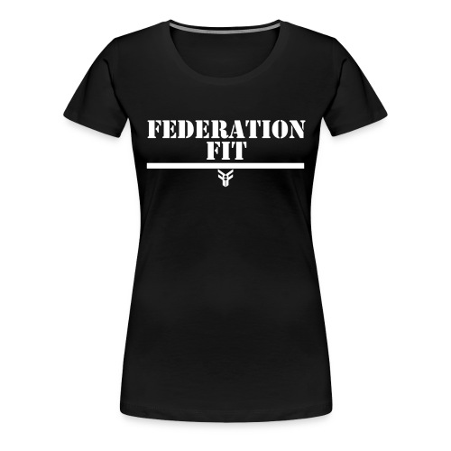 Women's Federation Fit Text T-Shirt (Black/White) - Women's Premium T-Shirt