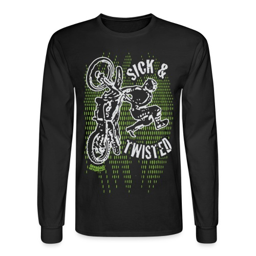 Sick Twisted Motocross - Men's Long Sleeve T-Shirt