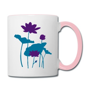 Water Lily flower Contrast Coffee Mug - Contrast Coffee Mug