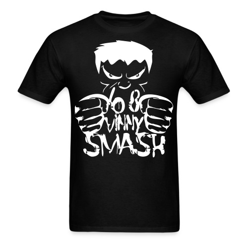 SMASH (white drawing) - Men's T-Shirt
