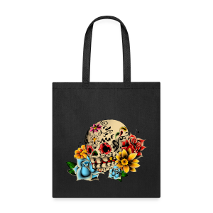Sugar Skull Flowers Tote Bag - Tote Bag