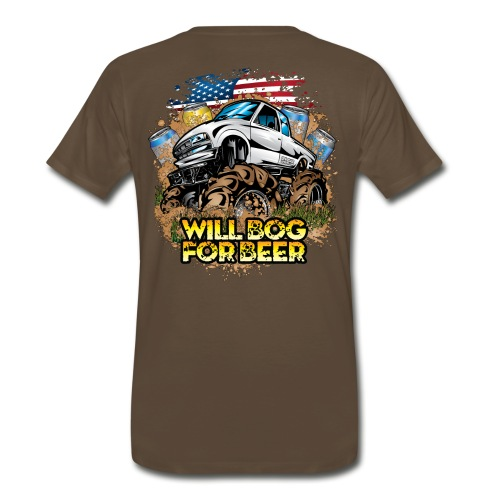 Bog For Beer Mud Truck BACK - Men's Premium T-Shirt