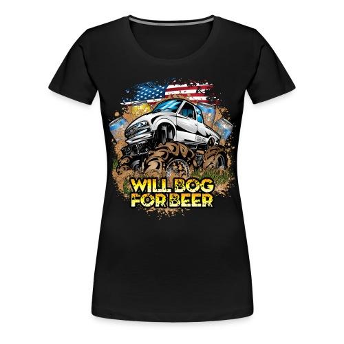 Bog For Beer - Women's Premium T-Shirt