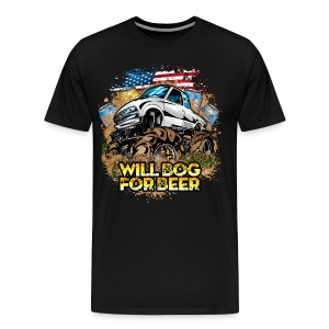 Bog For Beer Mud Truck - Men's Premium T-Shirt