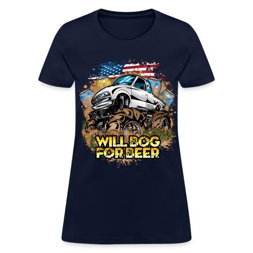 Bog For Beer Mud Truck - Women's T-Shirt