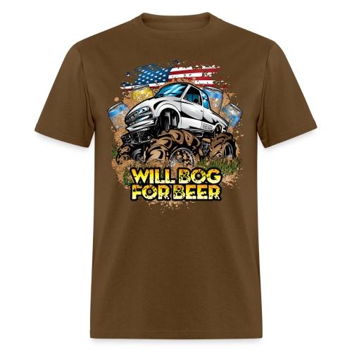 Bog For Beer Mud Truck - Men's T-Shirt