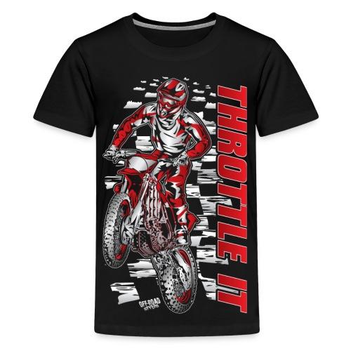 Motocross Throttle It Shirt - Kids' Premium T-Shirt