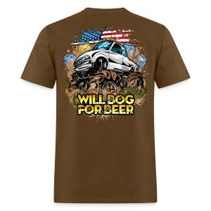Bog For Beer Mud Truck BACK - Men's T-Shirt