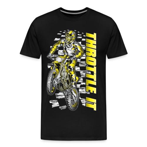Motocross Throttle It Suzuki - Men's Premium T-Shirt