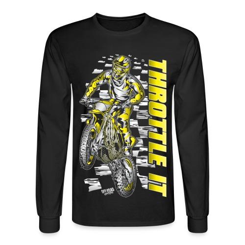 Motocross Throttle It Suzuki - Men's Long Sleeve T-Shirt