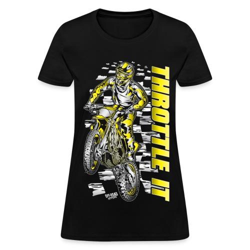 Motocross Throttle It Suzuki - Women's T-Shirt