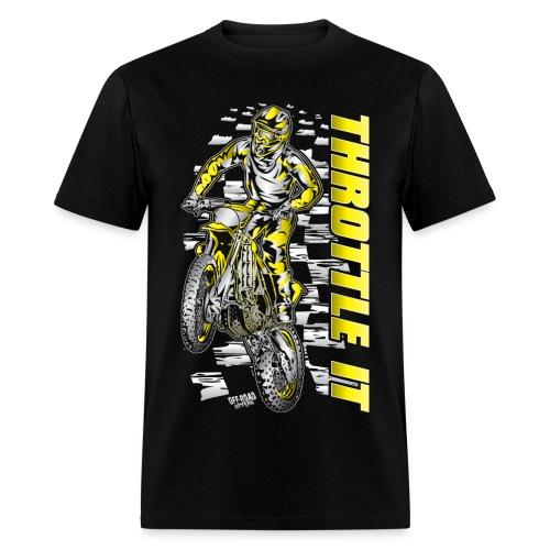 Motocross Throttle It Suzuki - Men's T-Shirt