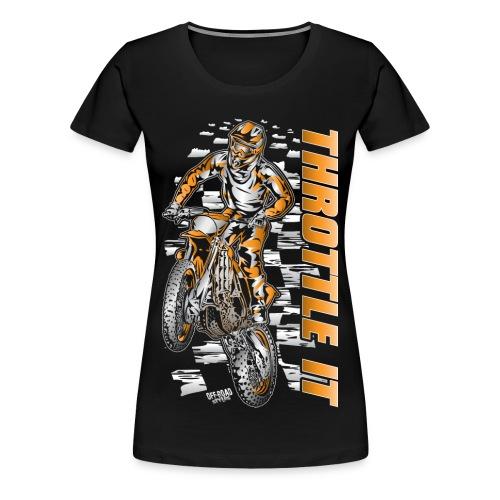 Motocross Throttle It KTM - Women's Premium T-Shirt