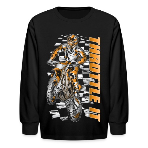 Motocross Throttle It KTM - Kids' Long Sleeve T-Shirt