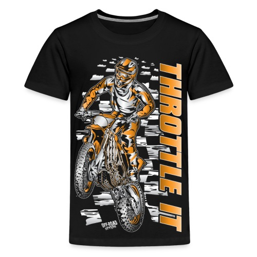 Motocross Throttle It KTM - Kids' Premium T-Shirt