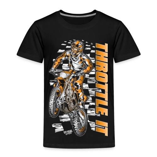 Motocross Throttle It KTM - Toddler Premium T-Shirt