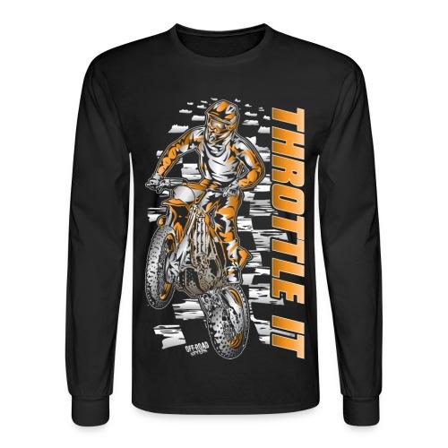 Motocross Throttle It KTM - Men's Long Sleeve T-Shirt