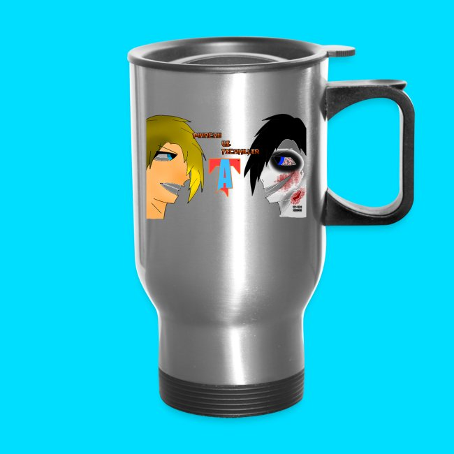 53bd716a TheAnimexis | Pikachu vs. FecaKiller Travel Mug - Travel Mug