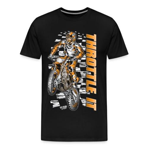 Motocross Throttle It KTM - Men's Premium T-Shirt