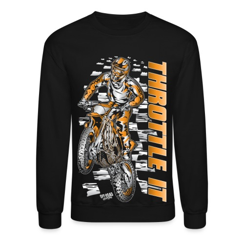Motocross Throttle It KTM - Crewneck Sweatshirt