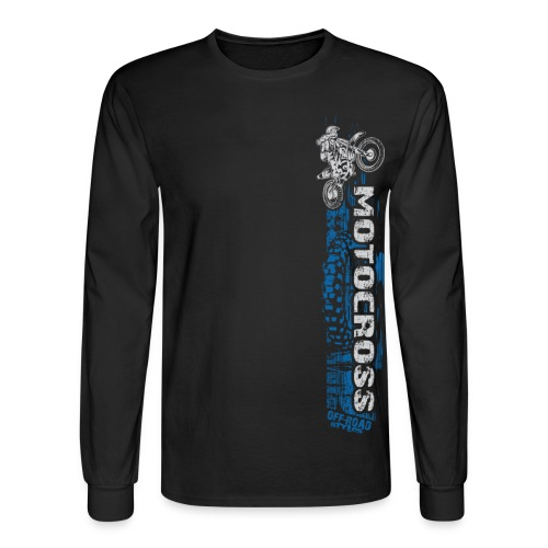 Motocross Side Panel - Men's Long Sleeve T-Shirt