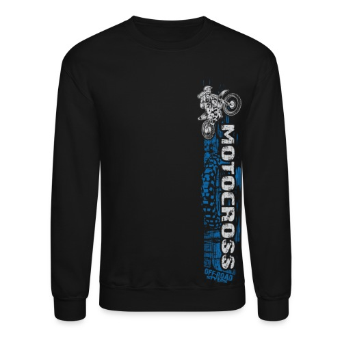 Motocross Side Panel - Crewneck Sweatshirt